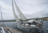 Helsal IV and Magic Miles match-racing on the Derwent River, Hobart Tasmania