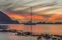 Twilight at anchor