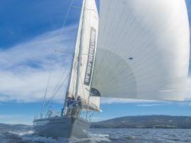Luxury sailing on the Derwent River, Hobart, Tasmania