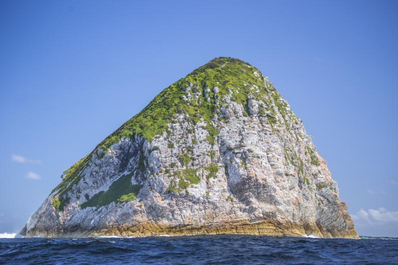 Big Caroline Rock at the entrance to Port Davey, South West Tasmania