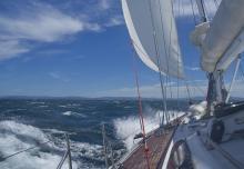 Helsal IV in Storm Bay, Tasmania